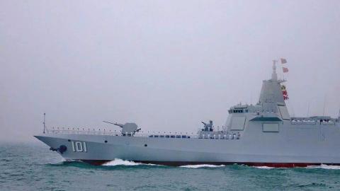 全网首个完整版海上阅舰视频来袭!中国海军最强阵容大雾中阅兵