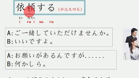 日语情景对话:(用日语拜托别人+依頼する)