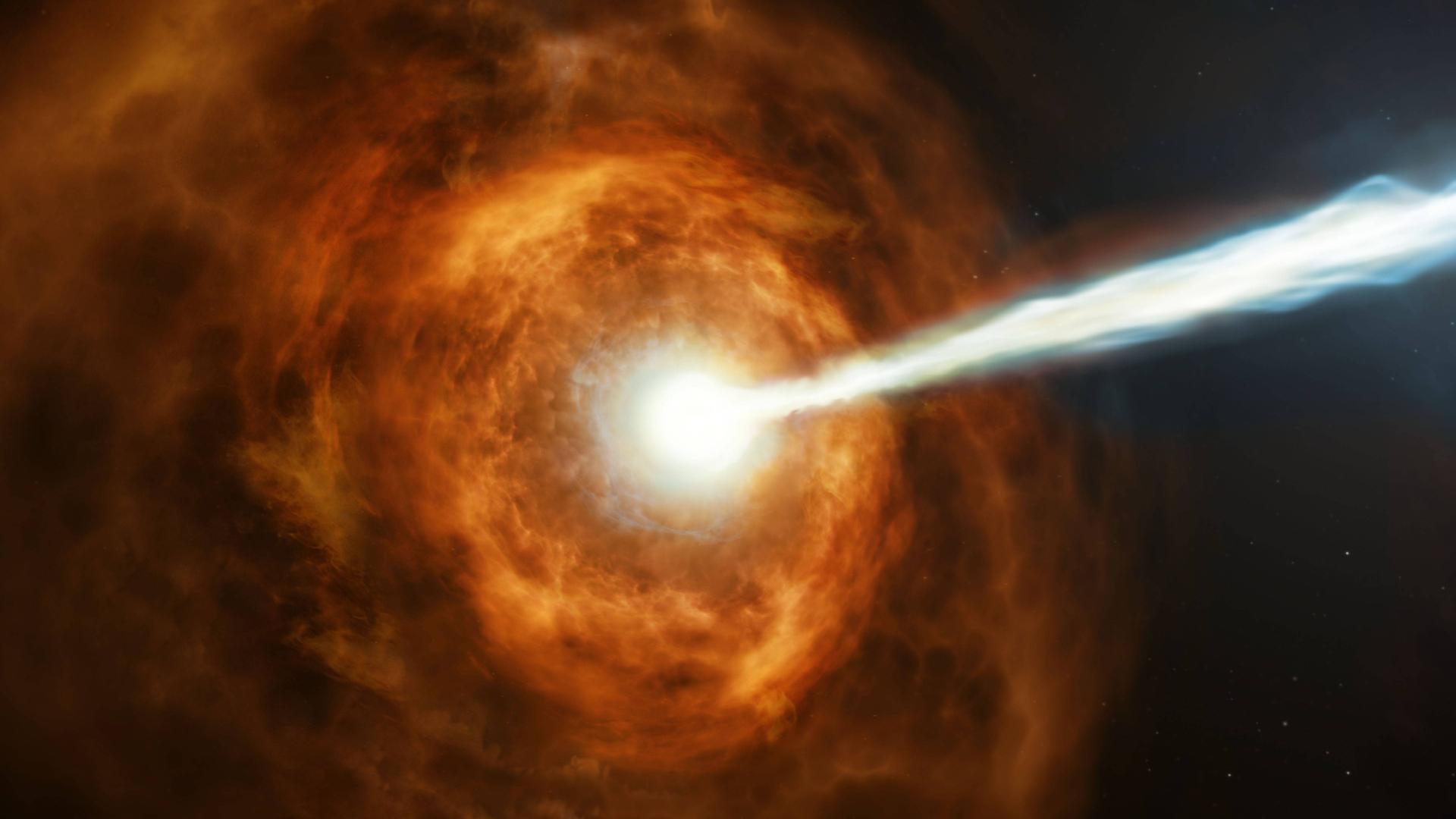 有史以来最强伽马射线暴,若击中地球人类立刻毁灭