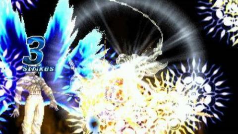 拳皇:大蛇成神之路,对战神秘黑衣人