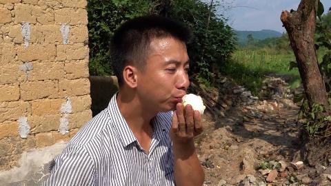 华农兄弟:看一下奶奶种的南瓜,顺便摘几个兄弟家的梨来吃