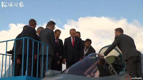 第14届莫斯科航展开幕 普京陪埃尔多安参观苏-57