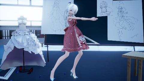 【弱音·布料】轻薄的洛丽塔小裙子,可爱的lo娘弱音小姐姐~