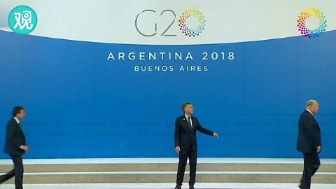特朗普握完手还没拍照就走了,留阿根廷总统独自尬在台上