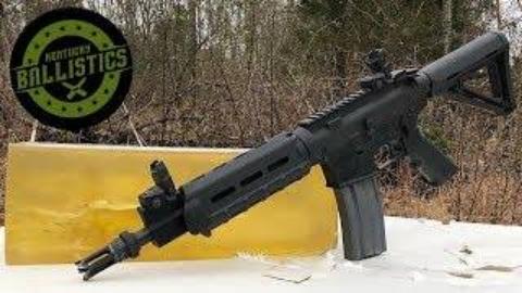 [Kentucky Ballistics]全自动AR-15凝胶测试
