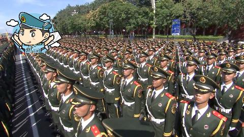 【国庆70周年】帅到起飞!中国式标准帅哥:中国军人!