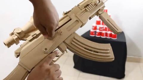 【手工DIY】用纸板做一个Ak-47(图纸看简介)明天晚上12点从评论中抽2件330*24的快乐水