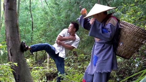 华农兄弟:山药带我们去摘野生猕猴桃,顺便摘了一点核桃