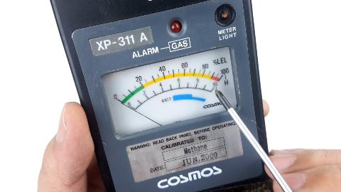 日本产的可燃性气体检测仪,使用了近20年,拆开看看里边都有什么