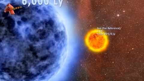 宇宙中各种星球的类型 vs 和太阳的对比