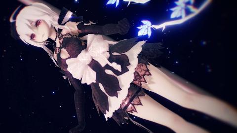 【Haku MMD】点点荧光,每一根飘零之羽,都是一个虚幻的梦境。