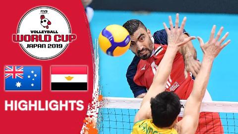 男排世界杯 澳大利亚 vs 埃及 精华