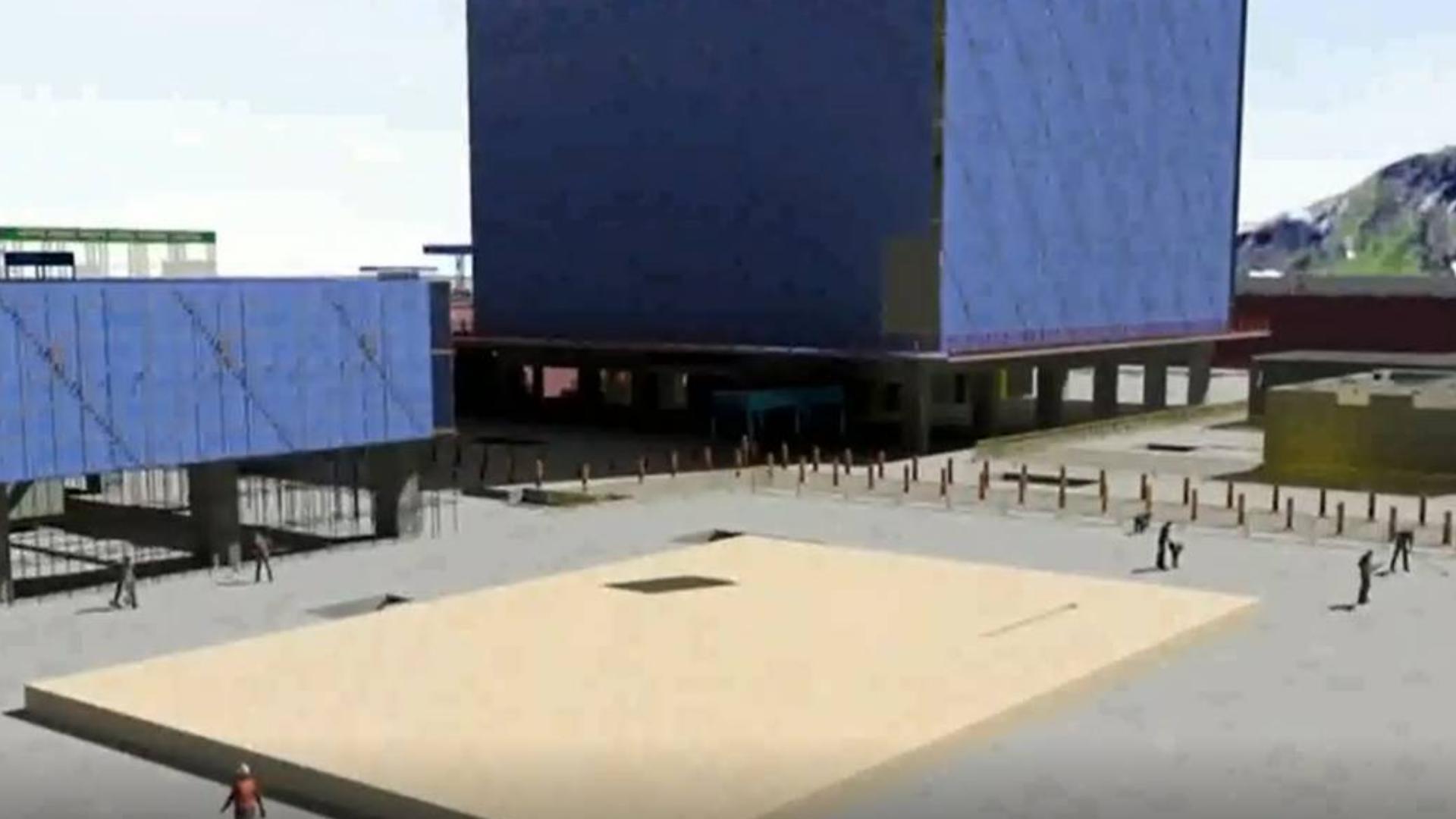 BIM施工动画模拟,盖房子就像搭积木一样.MP4