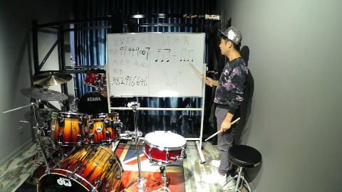 架子鼓教学,简单学习架子鼓视频教程,12月份一起学架子鼓3