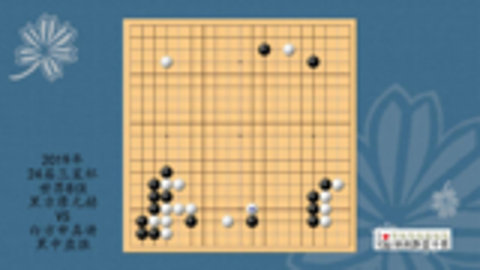 2019年24届三星杯世界围棋8强,廖元赫VS申真谞,黑中盘胜