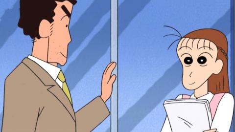 蜡笔小新:广志一遇到美女同事,立马就展现出自己这点!