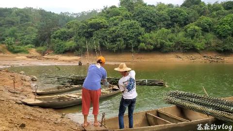 【苏森vlog】叫上几个老表去水库砍竹子做果苗牵引