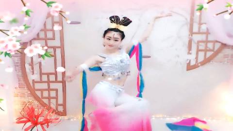 """美女主播妍玉儿舞蹈《天宫舞曲》唯美音乐,不同的""""嫦娥仙子""""!"""