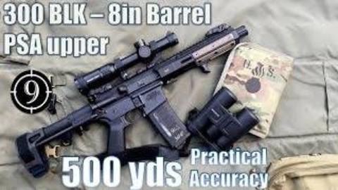 [9-Hole Reviews]使用PSA 300BLK步枪500码精准射击挑战