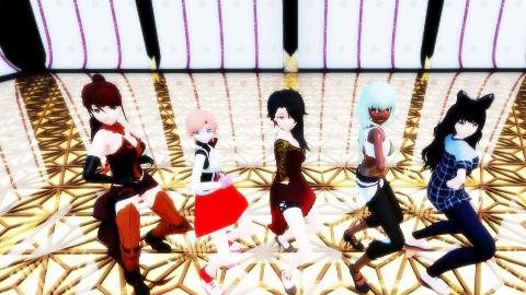 【RWBY MMD】五名动漫美少女,你们喜欢哪一位小姐姐呢?