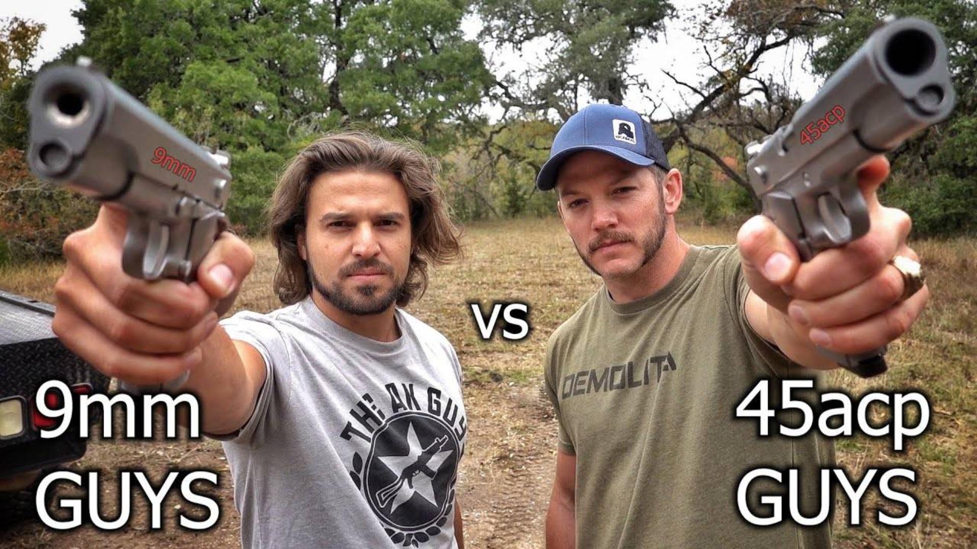 [爆破农场]9mm vs 45acp