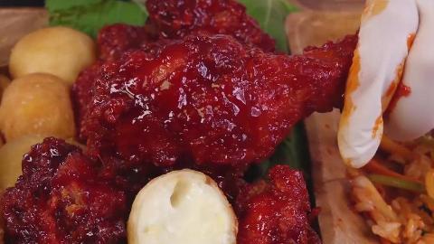 【G-NI】 韩国最辣的炸鸡肉+拌饭