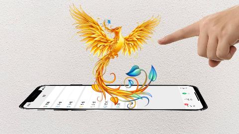 教你一招,在手机里养一只朱雀神鸟,悬浮手机上,可以飞来飞去