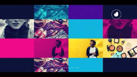 AE模板-动态酷炫节奏感4K开场片头动画模板