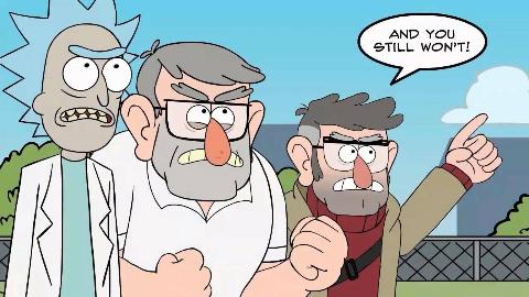 【未完待续】瑞克和莫蒂X怪诞小镇!Rick和叔公一起对抗宝石怪兽!
