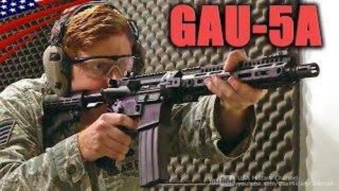 美国空军机组成员自卫武器GAU-5A步枪