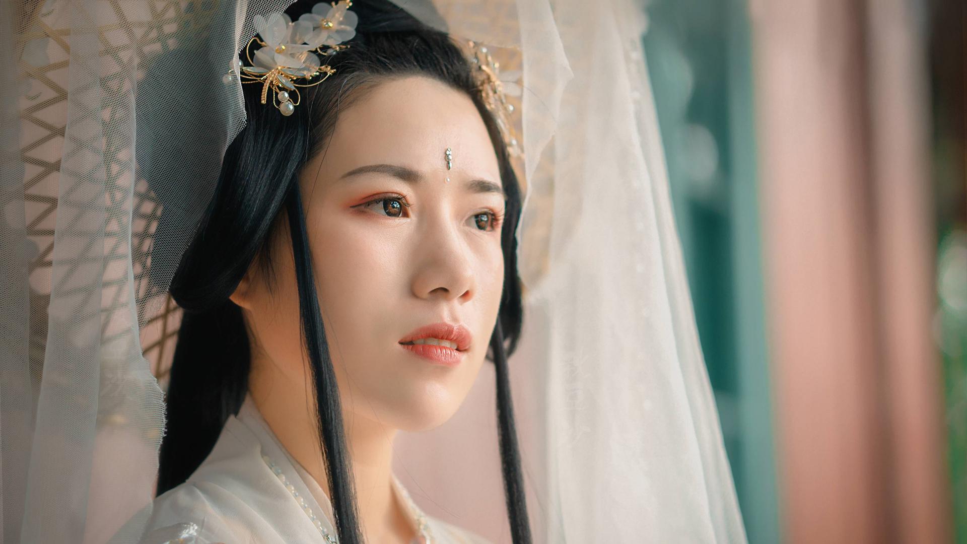 【秋豆沙】汉服妆容十七,古风仙气写真上镜复古妆容分享
