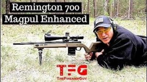 试射雷明顿700步枪