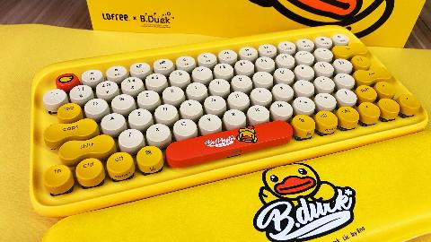 某萌系机械键盘开箱:竟然召唤出考拉内心的小公举