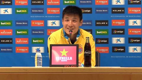 【高清 武磊新闻发布会】武磊:我相信在磨合之后会踢得更好,我有信心在欧洲立足。