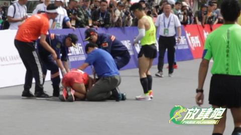 兰马国内女子冠军焦安静冲线瞬间回顾,瘫倒在地令人动容!