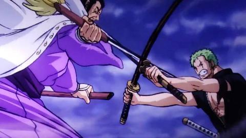 【海贼王:狂热行动/AMV】砍陨石!索隆vs藤虎 三刀流奥义 大千世界