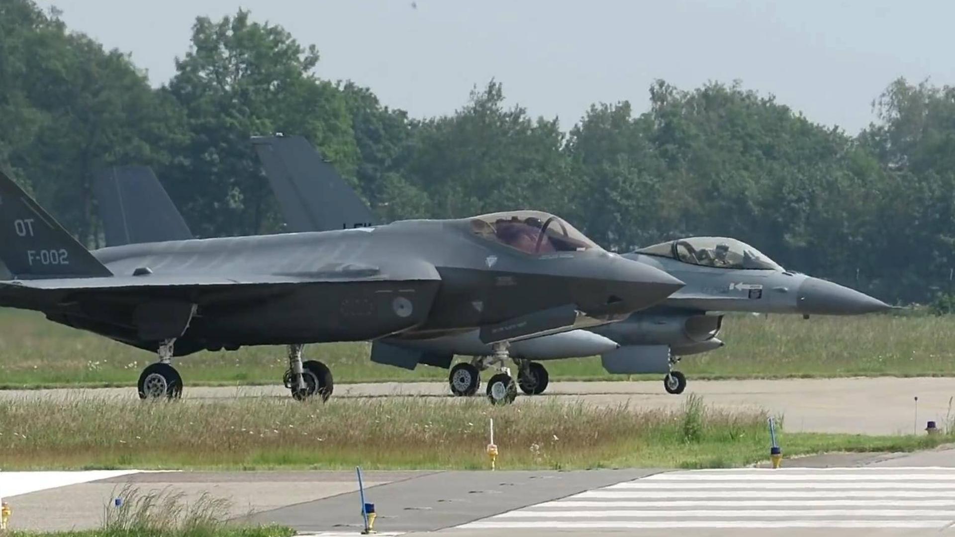 F35  F16近距离高清