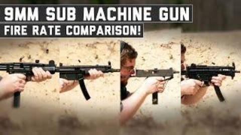 MP5 vs UZI vs PTR9K vs MAC11冲锋枪
