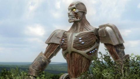 人类造出长肌肉的机器人,结果他连鲨鱼都打不过,一部科幻喜剧片
