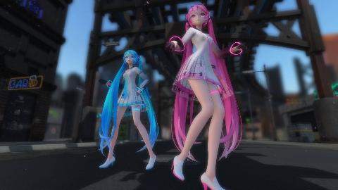 【舞蹈mmd】双份的miku,双份的快乐