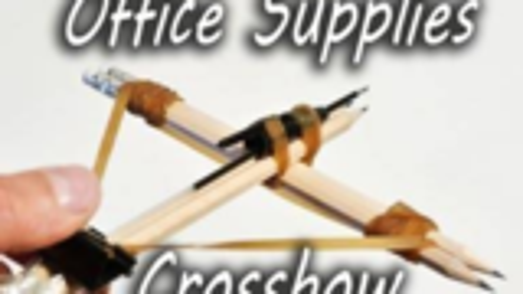 如何制作办公用品十字弓