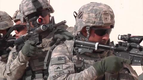 美军实弹演习,轻重武器齐上阵,刺激哦