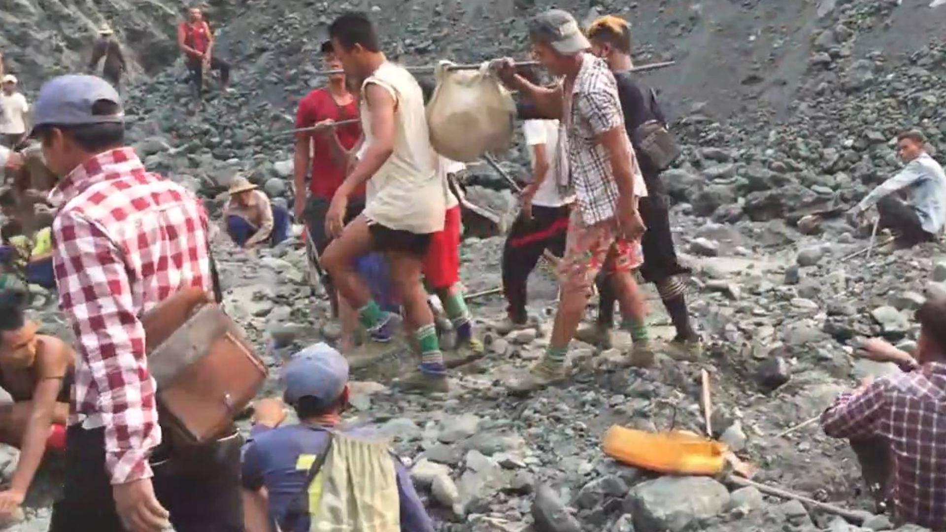 缅甸矿区纪实:翡翠来自不易,疯狂的挖玉人,用生命搏明天!
