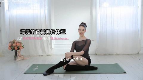 【中字】Ballet Beautiful美丽芭蕾 瘦腿提臂 第四套 ALM侧卧纤腰瘦腿