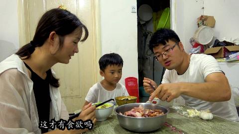 半个猪头,一锅面,媳妇做西红柿鸡蛋面,大sao两碗吃够,失蒜