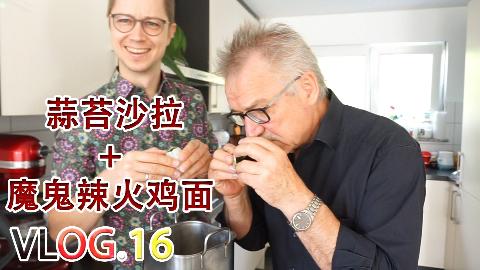 德国父子挑战用皮蛋、榨菜、酒酿做顿饭,是黑暗料理还是精品创意?【Vlog.16】