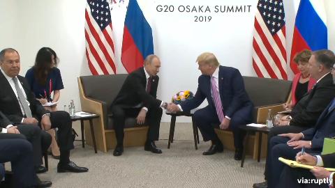 特朗普与普京在G20大阪峰会上会晤