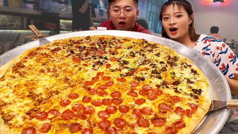 魔鬼健身后,500元买下北京最大pizza。教练:很好,我等着你!