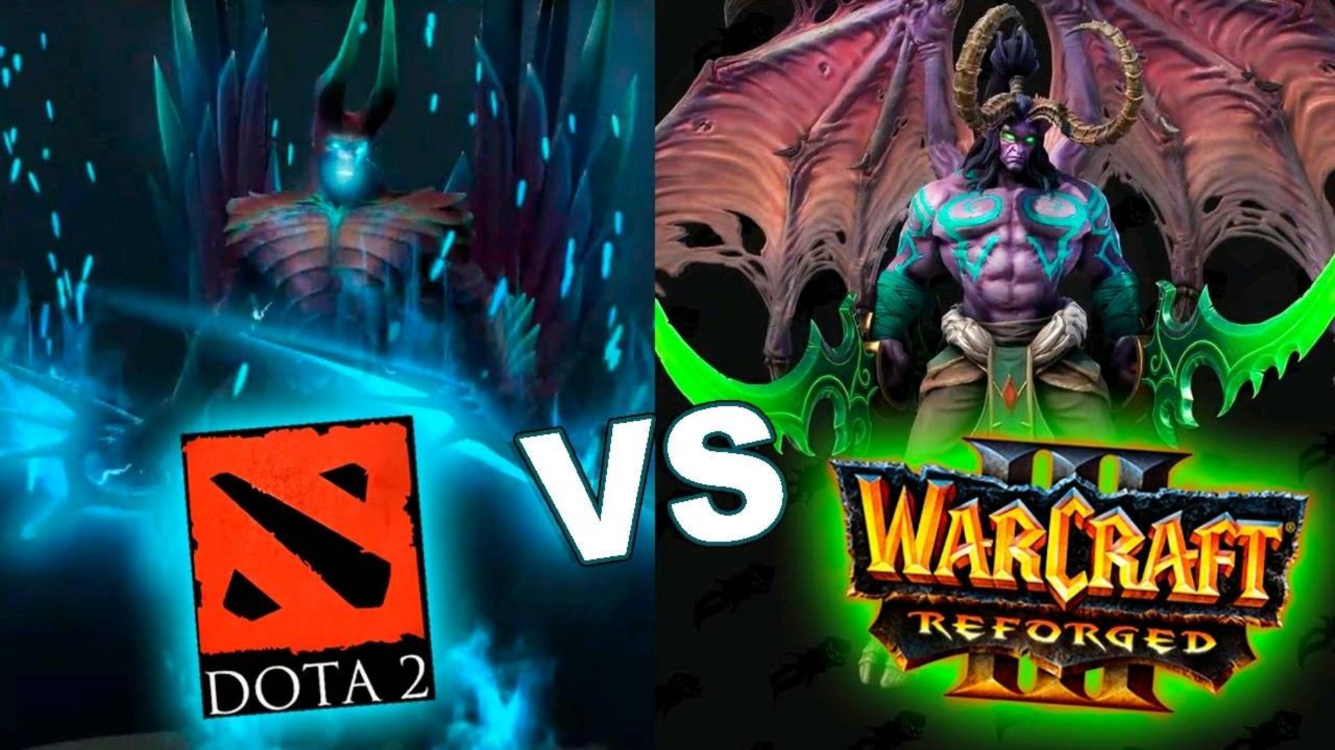 魔兽争霸3重置版人物模型 vs DOTA 2-英雄模型比较