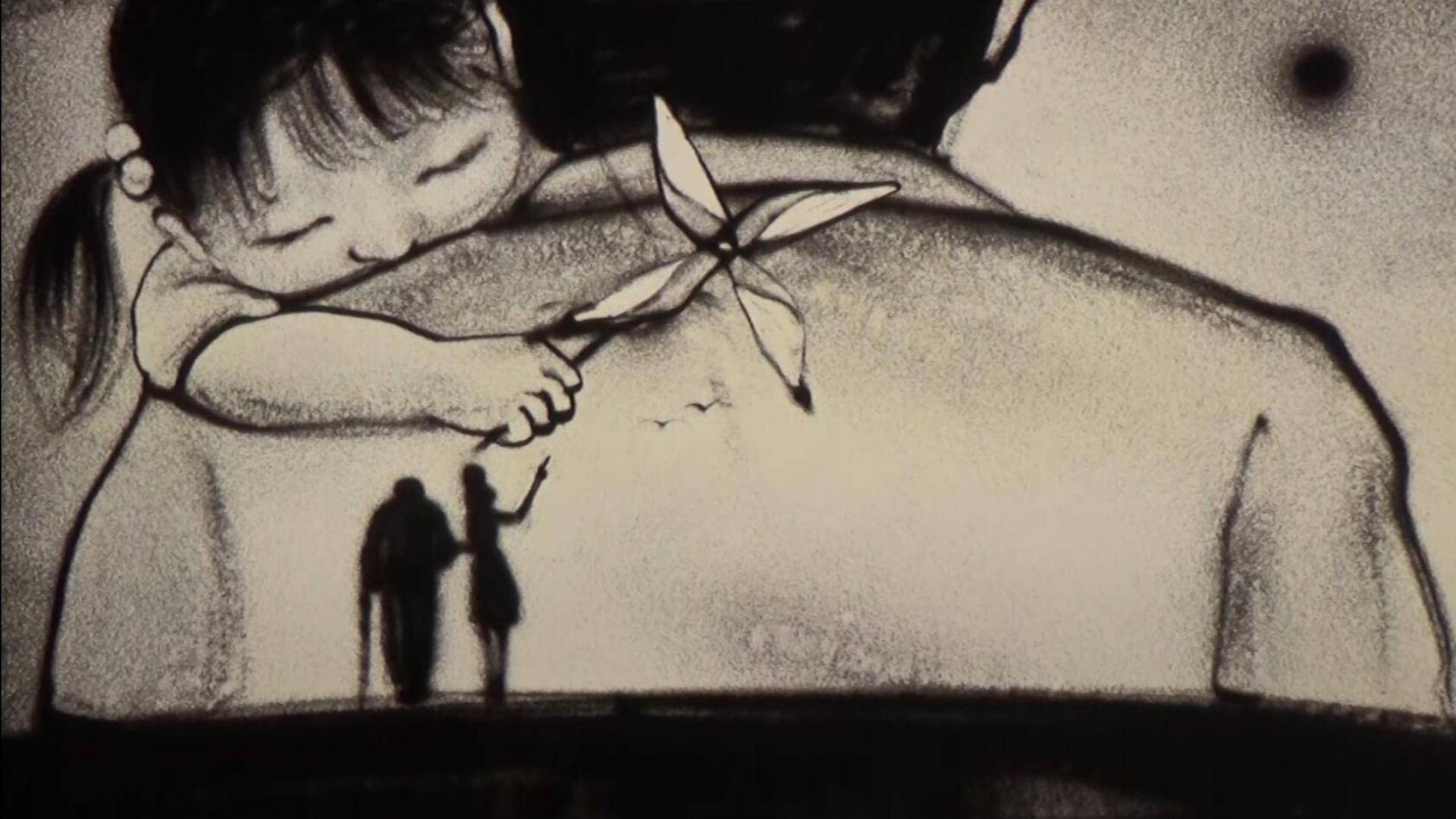 许飞深情的《父亲写的散文诗》,背景沙画太走心,含着泪看完!
